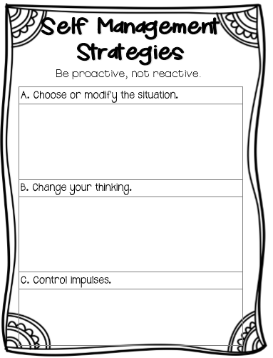 Self- Management Strategies