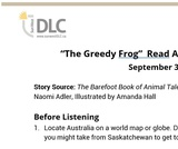 """The Greedy Frog"" Read Aloud: Listening Guide"