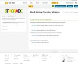 ELA 8: Writing Checklists & Rubrics