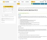 Creativity Guidebook - 10-12 (High School) Sun West