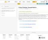 Critical Thinking - Example Rubrics