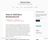 Steps to Analyzing a Running Record – Literacy Pages