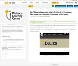 DLC Blended Learning Math 7 - Unit 3.1: Fractions, Decimals and Percents - Fractions to Decimals
