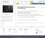 SK Provincial Writing & Math Rubrics PD or Workshop