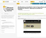 DLC Blended Learning Math 8 - Unit 1.7: Square Roots and Pythagorean Theorem - Applying the Pythagorean Theorem