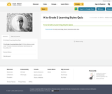 K to Grade 2 Learning Styles Quiz