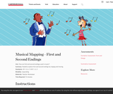 Musical Mapping—First and Second Endings