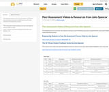Peer Assessment Videos & Resources from John Spencer