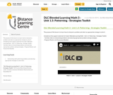 DLC Blended Learning Math 3 - Unit 1.5: Patterning - Strategies Toolkit