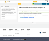 Infusing Creativity into Teaching, Learning and Life