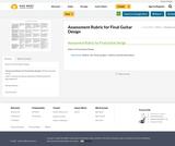 Assessment Rubric for Final Guitar Design