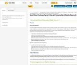 Cultural and Ethical Citizenship Guidebook - 6-9 (Middle Years) Sun West