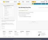 Our Birthday Party Plan