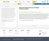 Alternative Energy Sources and Digital Commerce Lesson