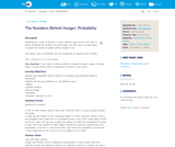 The Numbers Behind Hunger: Probability