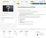 Essential Question Lesson Checklist