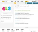 ELA 7:  I Can Statements, Rubrics & Year Plans