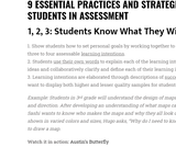 9 Ways for Students to Own the Assessment