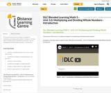 DLC Blended Learning Math 5 - Unit 3.0: Multiplying and Dividing Whole Numbers - Introduction