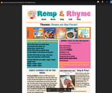 Romp & Rhyme Storytime Parent Activity Sheet: Down on the Farm