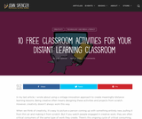 10 Free Classroom Activities for Your Distant Learning Classroom