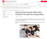 Distance learning with Office 365: Guidance for parents and guardians