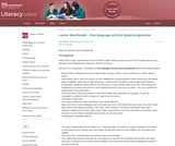 Oral language activity based programme : Virtual Learning Network