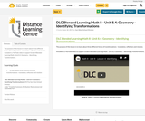 DLC Blended Learning Math 8 - Unit 8.4: Geometry - Identifying Transformations