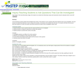 Inquiry-Teaching Students to Ask Questions That Can Be Investigated
