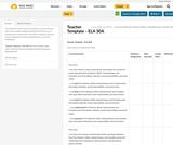 Teacher Template – ELA 30A