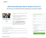 SEL - Question Bank: Student Check-ins (Grade 3-12)