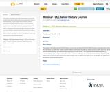 Webinar - DLC Senior History Courses