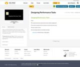 Designing Performance Tasks