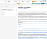 Microsoft Teams How to's