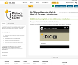 DLC Blended Learning Math 6 - Unit 3.0: Decimals - Introduction