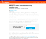 5 Steps to Better School/Community Collaboration
