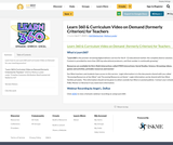Learn 360 & Curriculum Video on Demand  (formerly Criterion) for Teachers