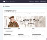 Veterans Affairs Canada - Remembrance