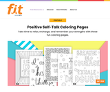 Positive Self-Talk Coloring Pages