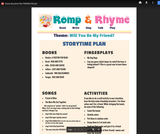 Romp & Rhyme Storytime Lesson Plan: Friends