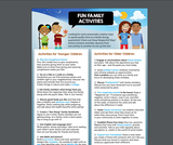 Interactive Family Activities Checklist