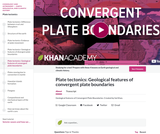 Cosmology and Astronomy: Plate Tectonics: Geological features of Convergent Plate Boundaries