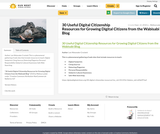 30 Useful Digital Citizenship Resources for Growing Digital Citizens from the Wabisabi Blog