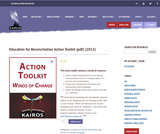 Education for Reconciliation Action Toolkit (pdf) (2015)