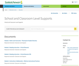 Supporting All Learners - School & Classroom Level Supports