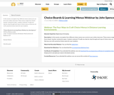 Choice Boards & Learning Menus Webinar by John Spencer