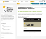 DLC Blended Learning Math 3 - Unit 1.0: Patterning - Introduction