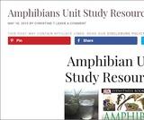 Amphibians Unit Study Resources
