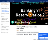 Banking, Money, Finance: Seeing How Reserve Ratios Limit How Much Lending I Can Do