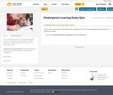 Kindergarten Learning Styles Quiz